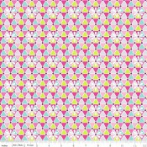 Riley Blake Geo Blossom pink