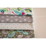 Fat Quarter Stoffpaket Riley Blake Flit and Bloom grau