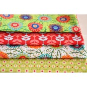 Fat Quarter Stoffpaket Retro Blumen