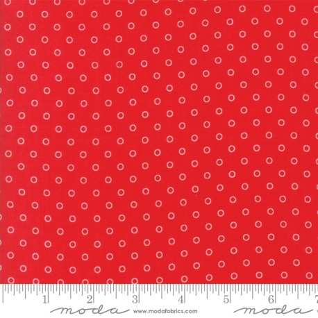 Moda Fabrics Smitten Little Darling Dot Red