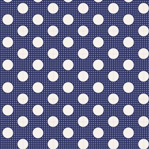 Tilda Stoff Medium Dots nachtblau