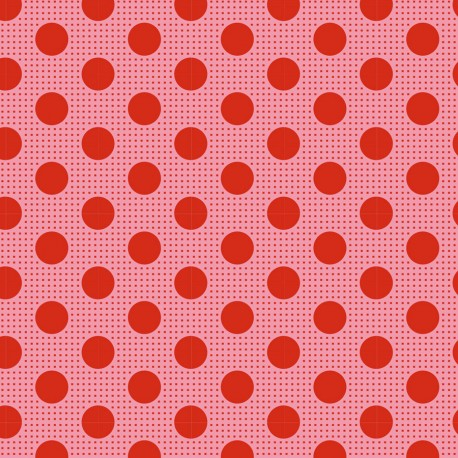 Tilda Stoff Medium Dots lachs