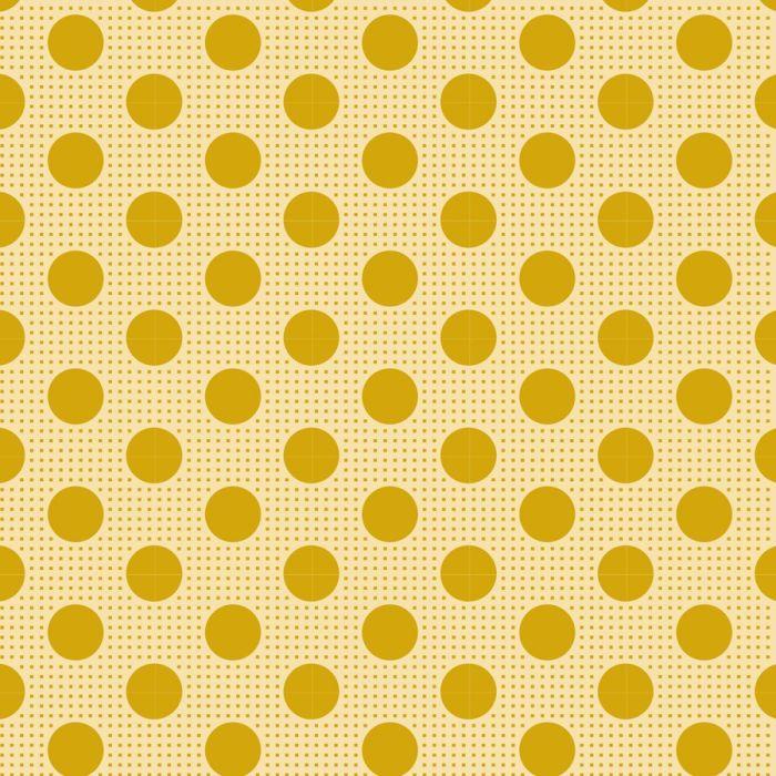 Tilda Stoff Medium Dots flachs gelb