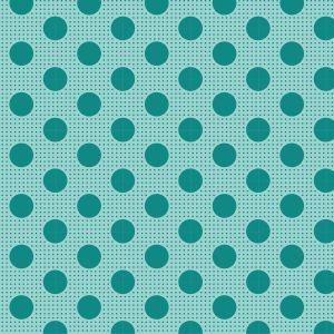 Tilda Medium Dots dunkel türkis mit Punkten