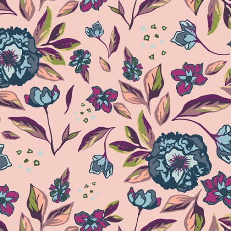 Art Gallery Fabrics  Enchanted Floral Ablush rosa