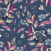 Art Gallery Fabrics Enchanted Flora Ablue dunkelblau