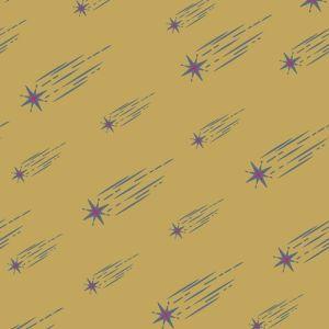 Art Gallery Fabrics Astral Rain Cluster gelb