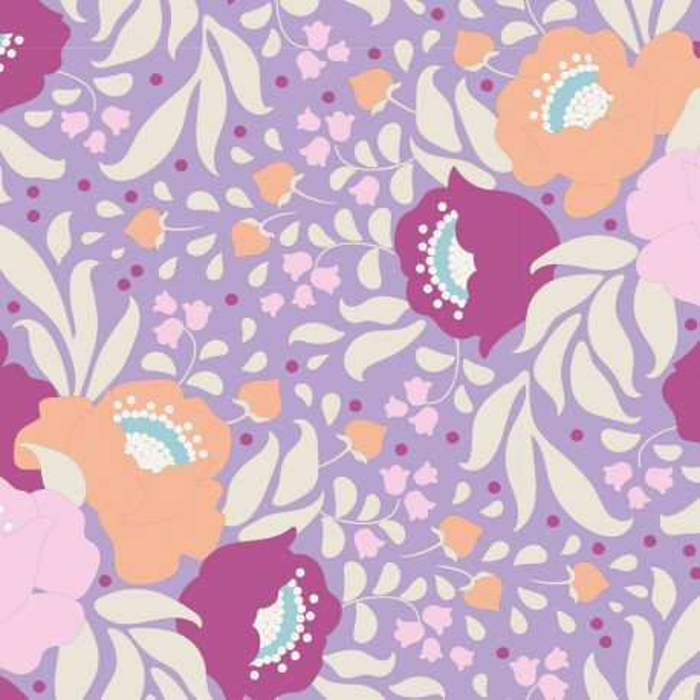 Tilda Stoff Autumn Bouquet lavendel