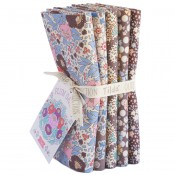 Tilda Fat Quarter Bundle Plum Garden braun
