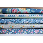 Tilda Fat Quarter Bundle Apple Butter blau