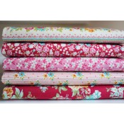 Tilda Fat Quarter Bundle Apple Butter rot und pink