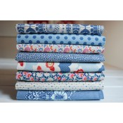 Tilda Fat Quarter Stoffpaket Lazy Days blau