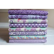 Tilda Fat Quarter Stoffpaket Lazy Days lila