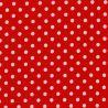 Stoff Judith rot mit großen weißen Punkten
