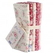 Tilda Fat Quarter Bundle Old Rose rot creme