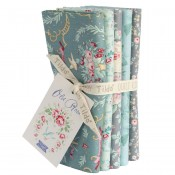 Tilda Fat Quarter Bundle Old Rose türkis grau