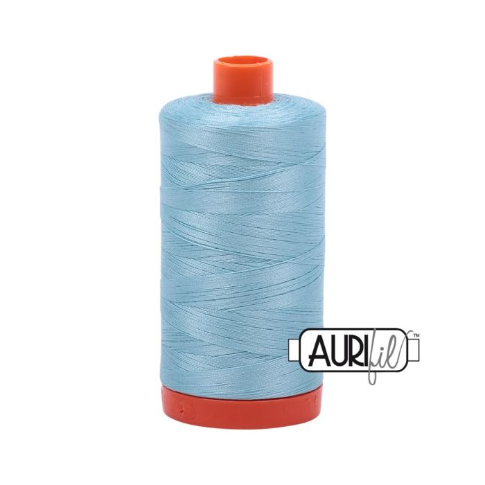 Aurifil Garn Light Grey Turquoise