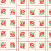 Moda Fabrics Little Snippets Forget me not creme