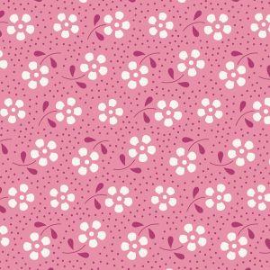 Tilda Basics Meadow rosa mit Blumen und Punkten