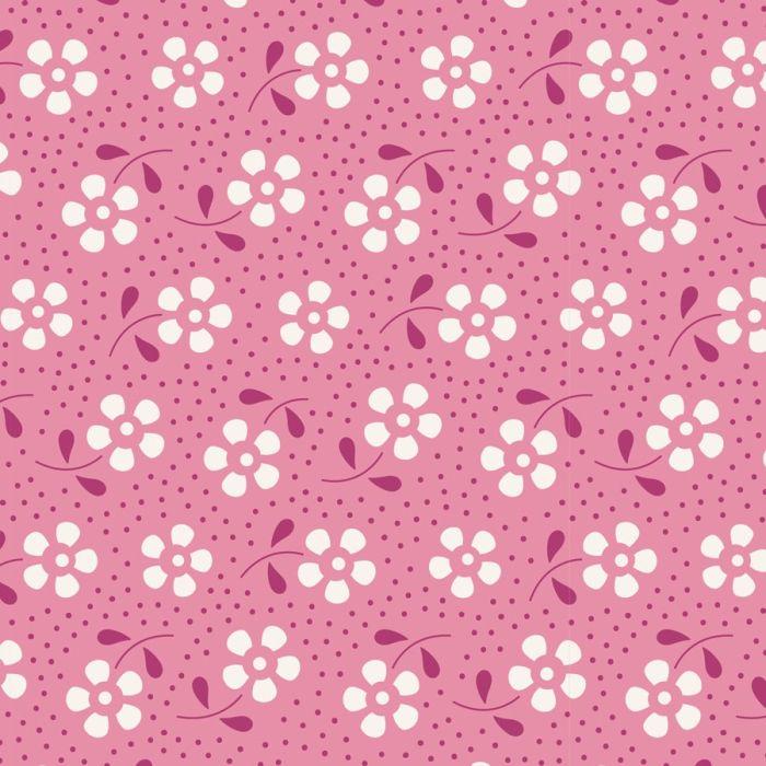 Tilda Meadow rosa mit Blumen und Punkten