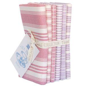 Tilda Fat Quarter Bundle Tea Towel rot und beere