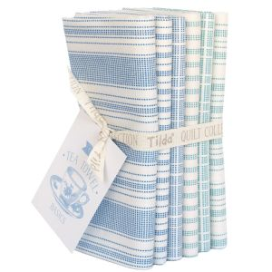 Tilda Fat Quarter Bundle Tea Towel türkis und blau