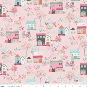 Riley Blake Moments Houses pink