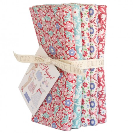 Tilda Fat Quarter Bundle Bon Voyage Small rot