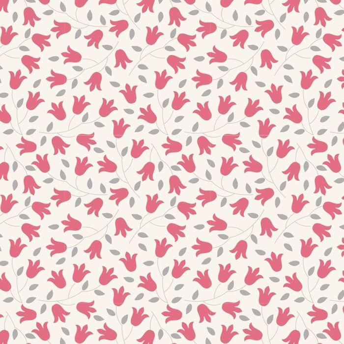Tilda Sophie rot mit kleinen zarten Blumen