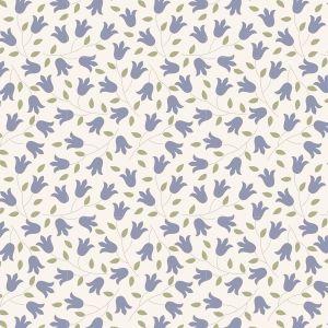 Tilda Sophie schieferblau mit kleinen zarten Blumen