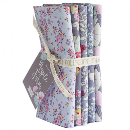 Tilda Fat Quarter Bundle Maple Farm blueberry slate