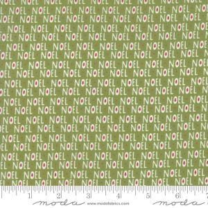 Moda Fabrics Christmas Card Noel grün