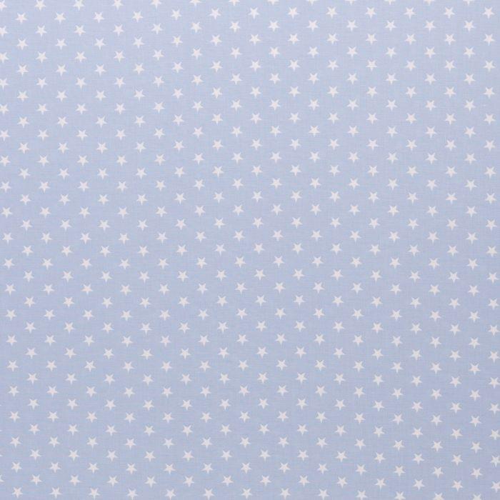 Swafing Stoff Carrie hellblau mit kleinen weißen Sternen