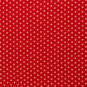 Swafing Stoff Carrie rot mit kleinen weißen Sternen