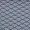 Swafing Stoff mit Muscheldesign dunkelblau