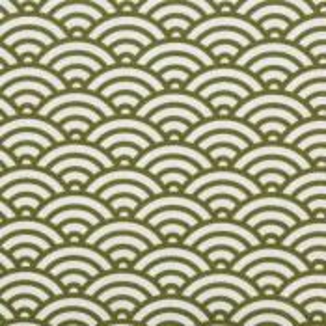 Swafing Stoff mit Muscheldesign olivgrün