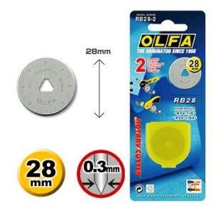 Olfa Ersatzklinge für Rollschneider 28 mm