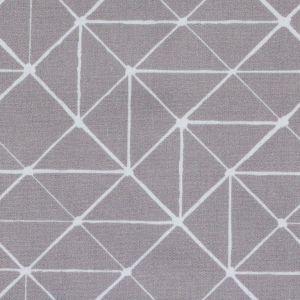 Swafing Stoff Kurt mit geometrischen Linien grau