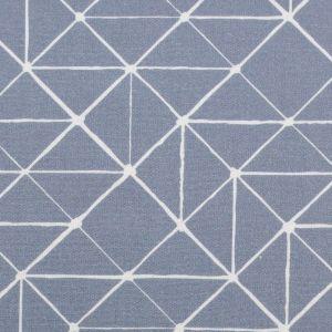 Swafing Stoff Kurt mit geometrischen Linien rauchblau