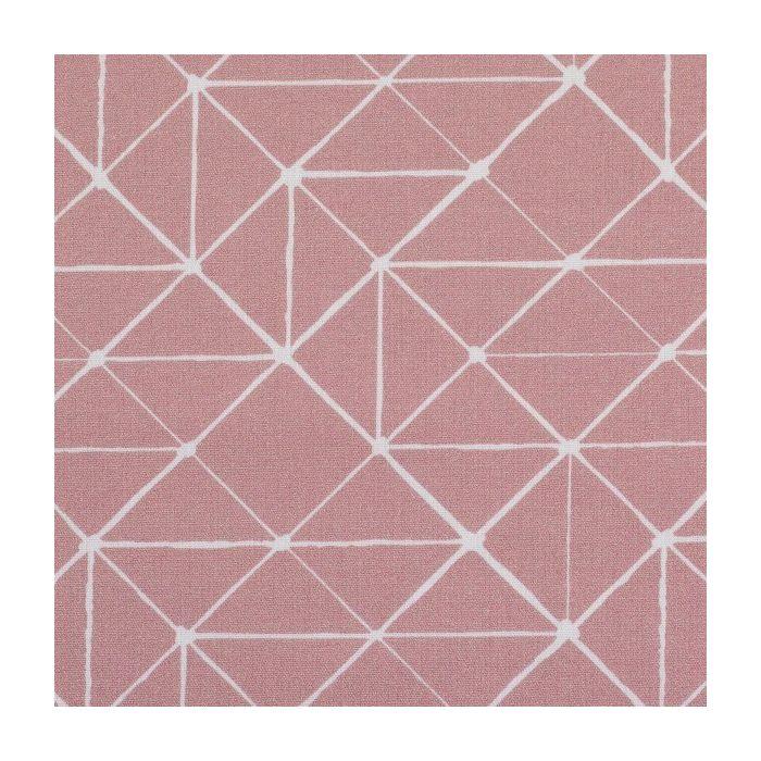 Swafing Stoff Kurt mit geometrischen Linien altrosa