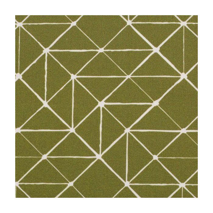 Swafing Stoff Kurt mit geometrischen Linien olivgrün