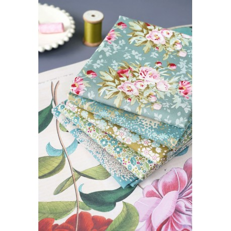Tilda Fat Quarter Bundle Woodland grün salbei