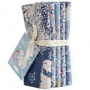 Tilda Fat Quarter Bundle Woodland blau