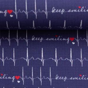 Swafing Stoff Toni EKG dunkelblau