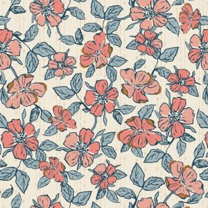 Art Gallery Fabrics Homebody Crafted Blooms Vanilla