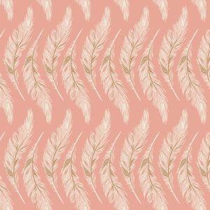Art Gallery Fabrics Homebody Presently Plumes rosa