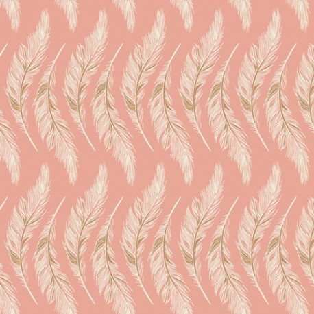 Art Gallery Fabrics Homebody Presently Plumes rosa