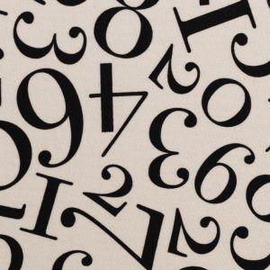 Swafing Webware Kim in naturweiß mit schwarzen Zahlen