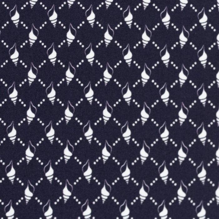 Swafing Webware Kiel dunkelblau mit Punkten und Muscheln