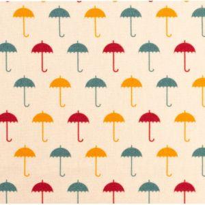 Swafing Webware Timo naturweiß mit bunten Regenschirmen